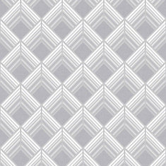 Trifina Geo Silver/White/Grey Removable Wallpaper Sample