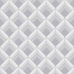 Graham & Brown Trifina Geo Argent/Blanc/Gris - Échantillon de Papier Peint