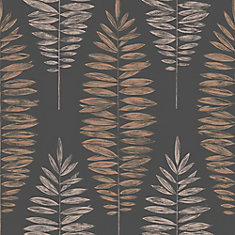 Lucia Black/Copper/Rose Gold Removable Wallpaper Sample