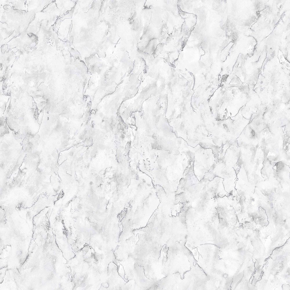 Marble White Grey Removable Wallpaper Sample