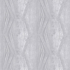 Vermeil Stripe Silver/Grey Removable Wallpaper Sample