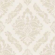 Damaris Cream/Gold Removable Wallpaper Sample