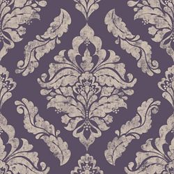 Graham & Brown Damaris Purple/Silver Removable Wallpaper