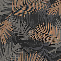 Jungle Glam Black/Copper Removable Wallpaper Sample