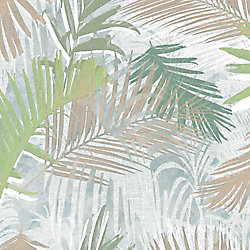 Graham & Brown Jungle Glam Green/White/Taupe Removable Wallpaper