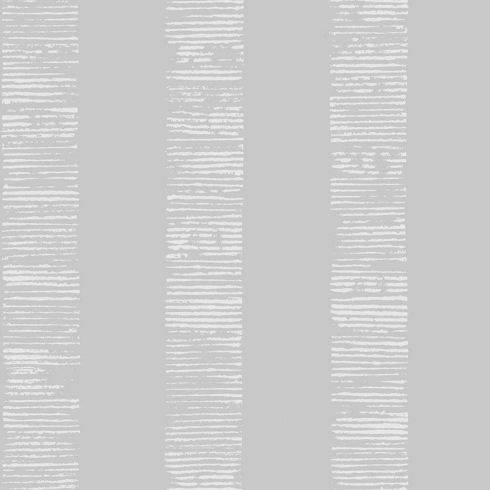 Graham & Brown Mara Stripe Grey/Silver Removable Wallpaper
