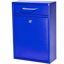 Mail Boss Locking Security Drop Box, Bright Blue