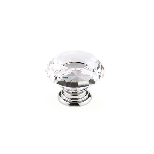Richelieu Bolzano Collection 2-inch (50 mm) Chrome, Clear Contemporary Cabinet Knob