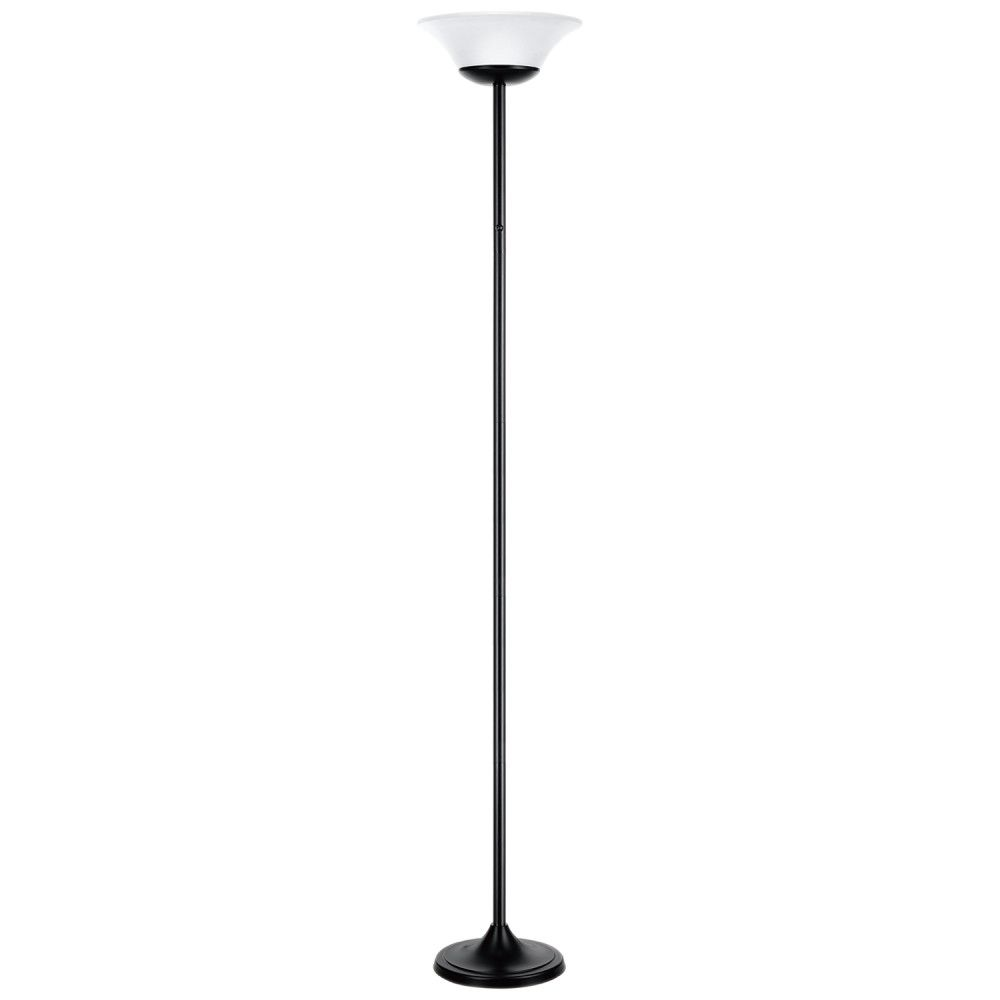 Globe Electric 72 Inch 15W Matte Black Integrated LED Floor Lamp