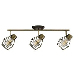 Globe Electric Jax 3-Light Antique Pewter Track Lighting with Bulbs Included