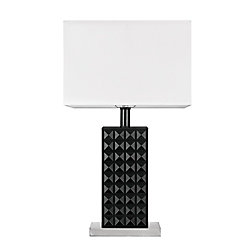 Globe Electric Selina 20-inch Black Table Lamp, LED Bulb Included