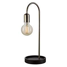Lampe à table Kraven, 20 po, laiton antique