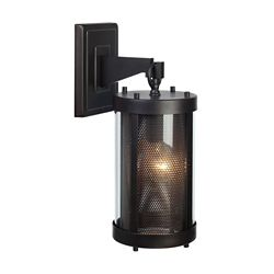 Globe Electric Morrissey 1-Light Black Outdoor Wall Sconce