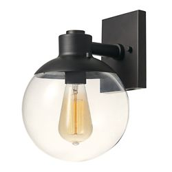 Globe Electric Portland 1-Light Dark Bronze Wall Sconce