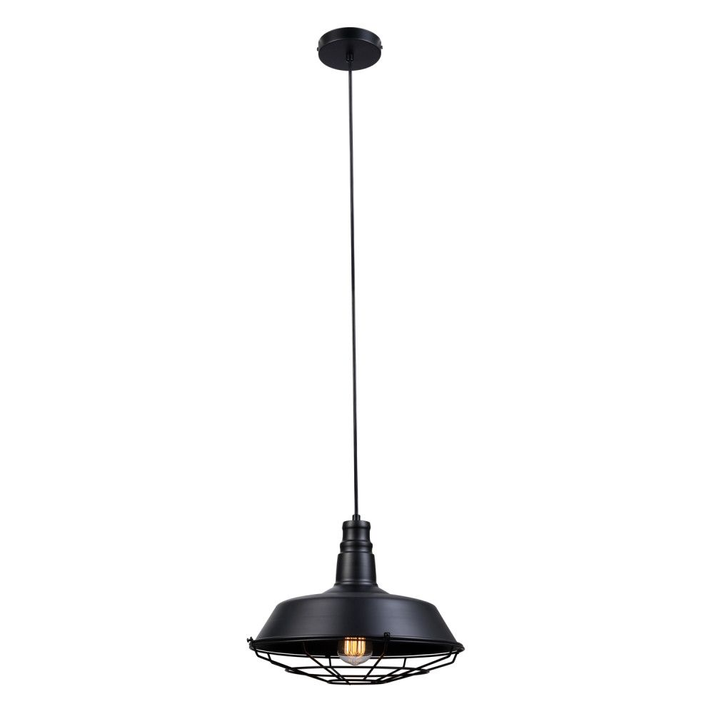 Globe Electric Damon 1-Light Matte Black Pendant Fixture