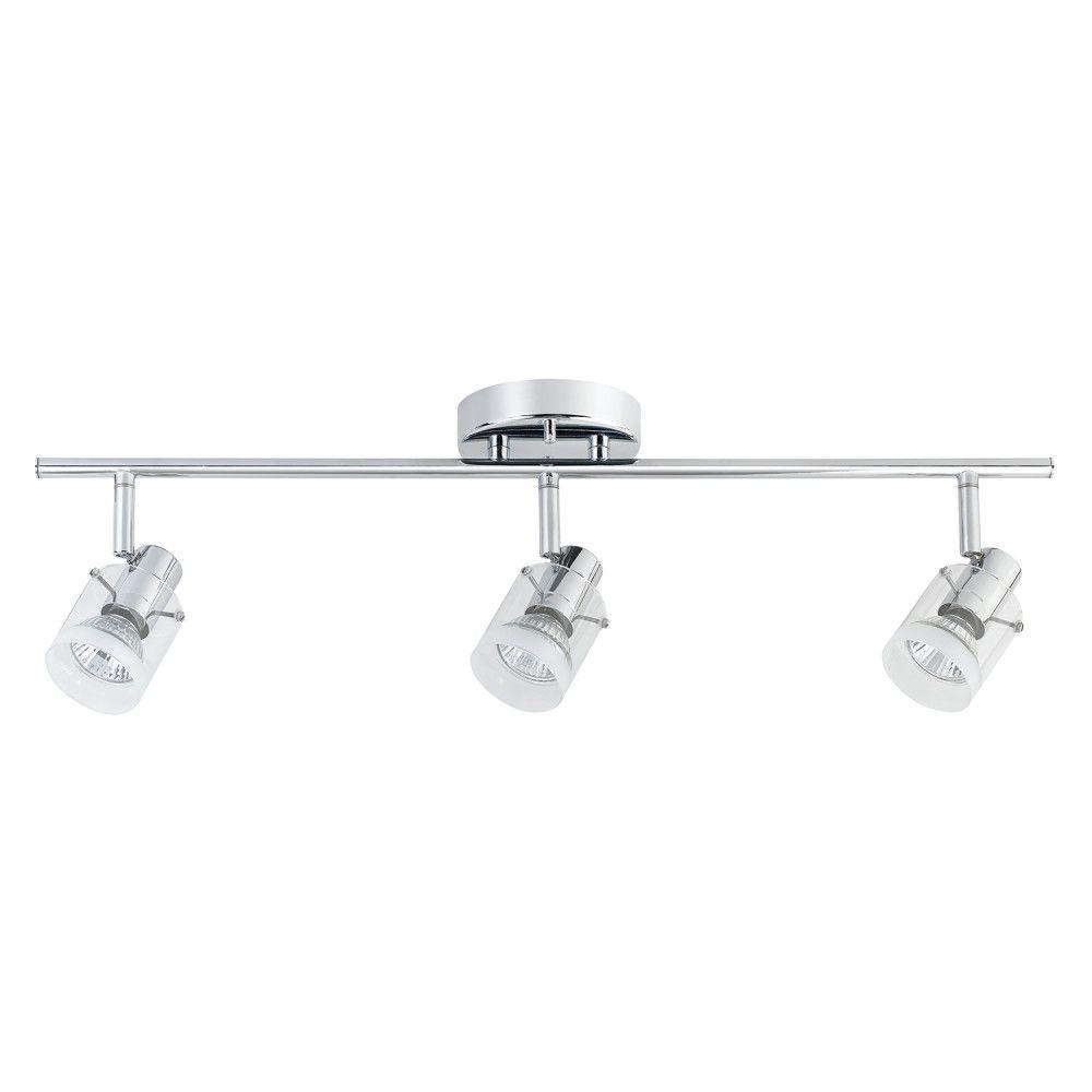 Progress lighting alpha track 50w 1 light white roundback style halo 3 light chrome track lighting mozeypictures Gallery