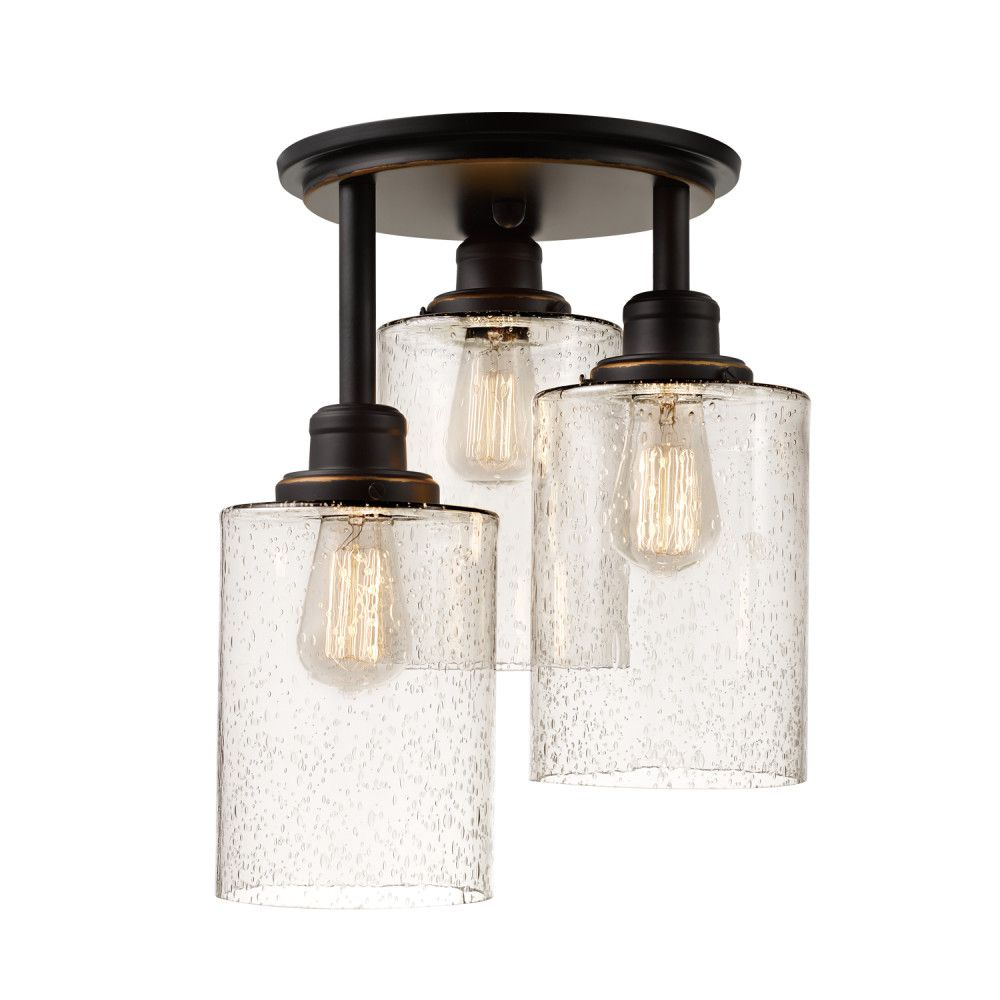 huge selection of 13847 d4fc6 Annecy 3-Light Semi-Flush Mount Ceiling Light Fixture in Oil-Rubbed Bronze