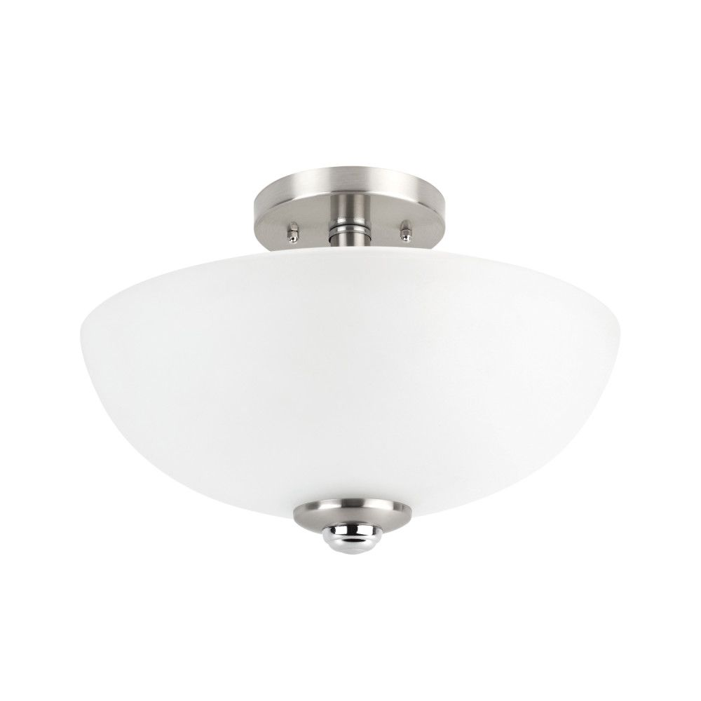 Globe electric hudson 2 light brushed nickel and chrome