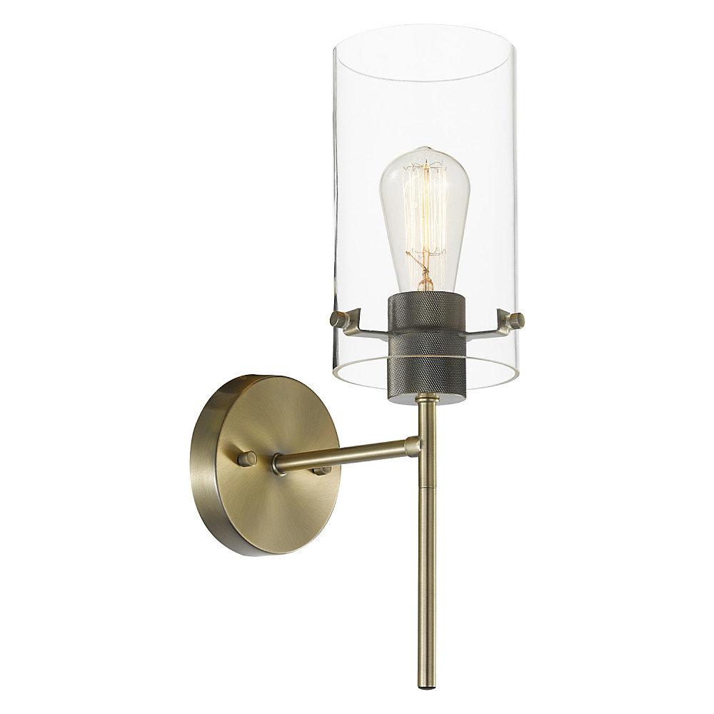 Cusco 1 light wall sconce light fixture in antique brass