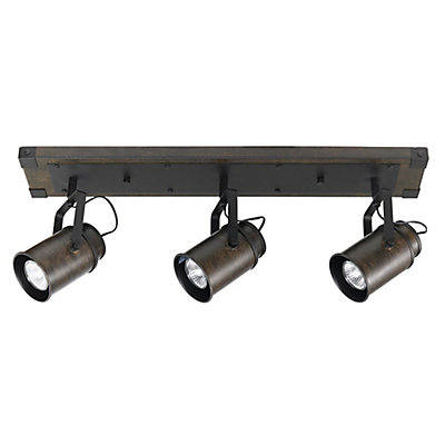 Globe Electric Williamsburg 3 Light Dark Wood Finish Track Lighting Bulbs Included The Home Depot Canada