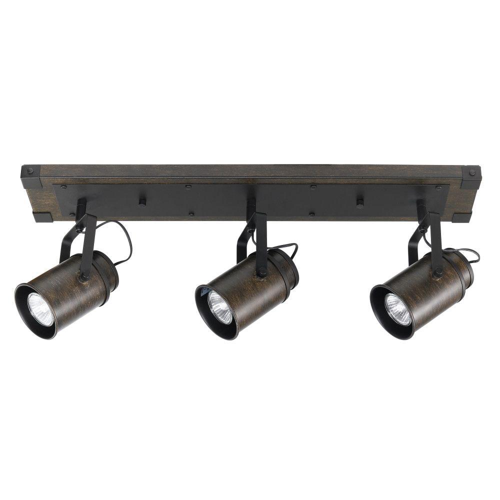 black track lighting. Williamsburg 3-Light Dark Wood Finish Track Lighting, Bulbs Included Black Lighting