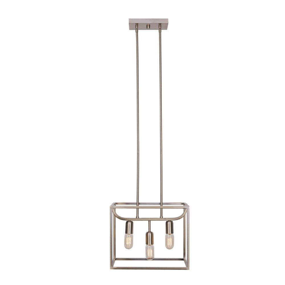 Globe Electric Lyon 3-Light Brushed Steel Chandelier