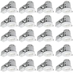 Globe Electric 4In White Swivel Recessed Lighting Kit (20-Pack)