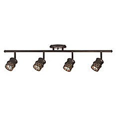 Norris 4-Light Oil Rubbed Bronze Adjustable Track Lighting, Bulbs Included