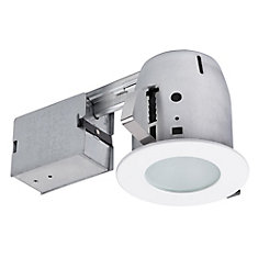 4 inch White IC Rated Recessed Lighting Kit, LED Bulb Included