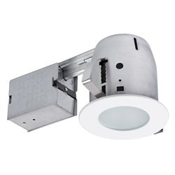 Globe Electric 4 inch White IC Rated Recessed Lighting Kit, LED Bulb Included