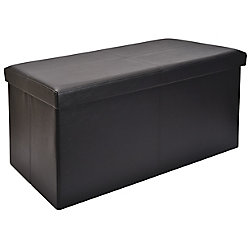 FHE 30-inch Folding Storage Bench in Black