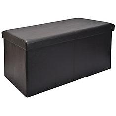Bon 30 Inch Folding Storage Bench In Black