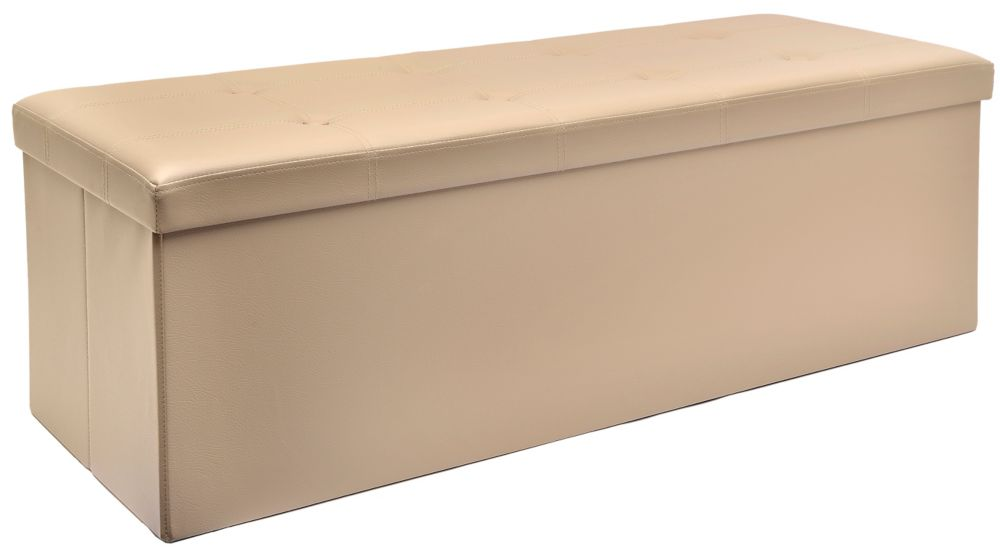 Fhe 45 Inch Folding Storage Bench In Taupe The Home
