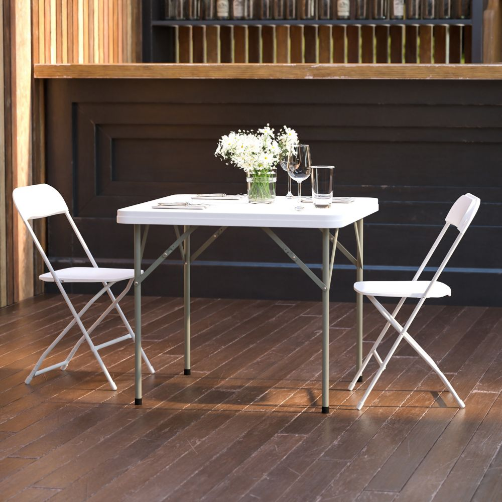 Flash Furniture 34SQ Plastic Fold Table