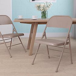 Flash Furniture Chaise pliante en métal