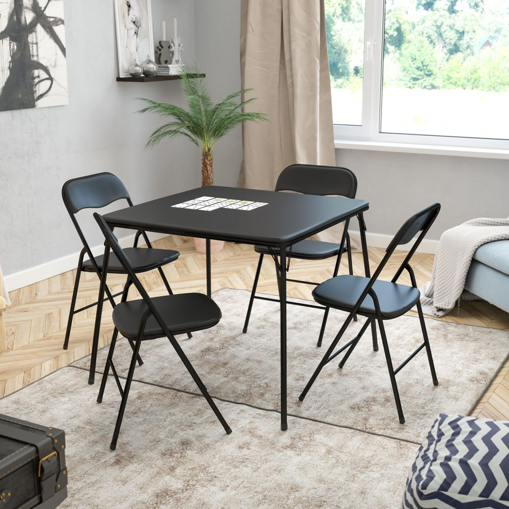 Flash Furniture 5 PC Folding Card Table Set