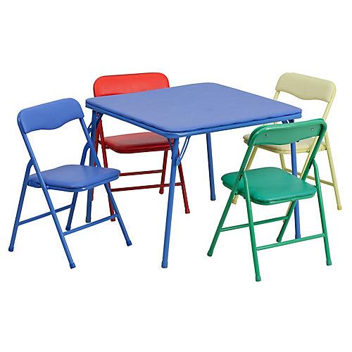 5-Piece Kids Folding Table Set
