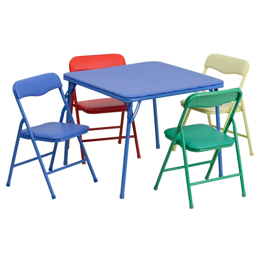 Flash Furniture 5 PC Kids Folding Table Set