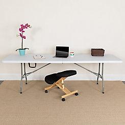 flash furniture 30 inch x 96 inch plastic bi fold table the home