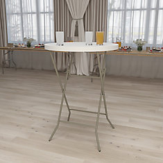 32RND Plastic Fold Bar Table