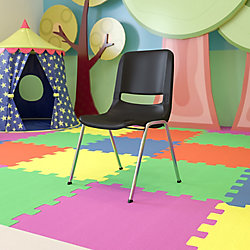 """Flash Furniture Plastic Stack Chair-18""""H Seat"""