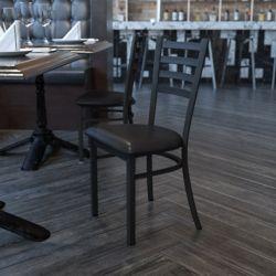 Flash Furniture Metal Ladder Back Chair