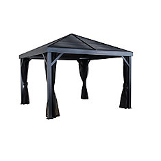 Sanibel 10 ft. x 10 ft. Sun Shelter in Dark Grey