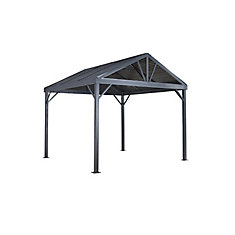 Sanibel I 10 ft. x 10 ft. Sun Shelter in Grey