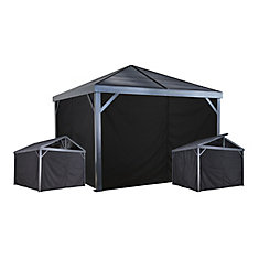 Sanibel 10 ft. x 10 ft. Curtains in Black