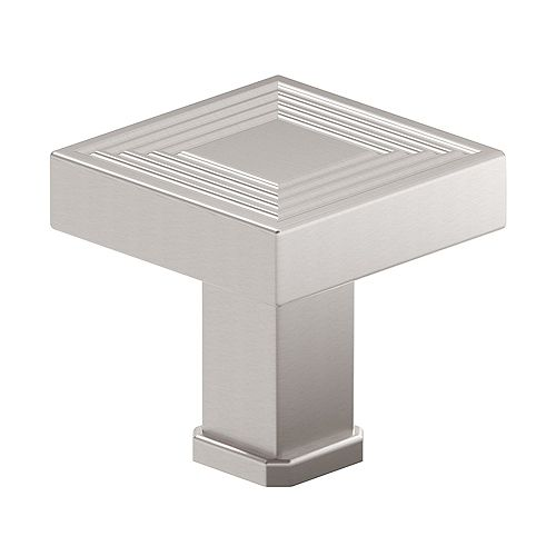 Richelieu Como Collection 1 3/8-inch (35 mm) x 1 3/8-inch (35 mm) Brushed Nickel Transitional Cabinet Knob