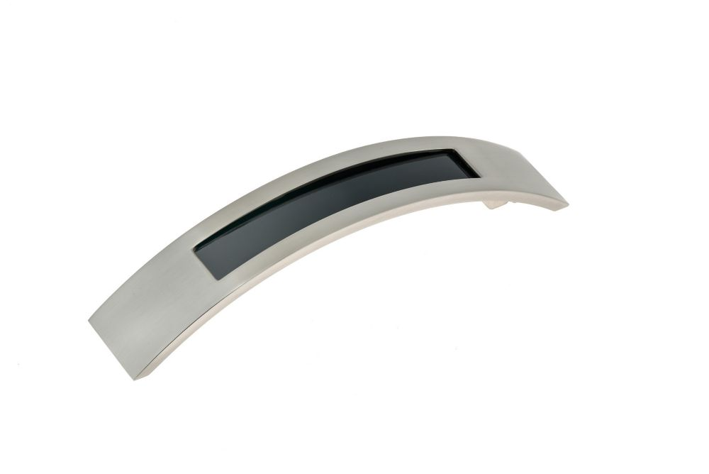 Richelieu Contemporary Metal Pull 5 1/32 inch (128 mm) CtoC - Brushed Nickel  - Fulton Collection