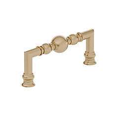 Traditional Metal Pull 3 3/4 inch (96 mm) CtoC - Champagne Bronze  - Firenze Collection
