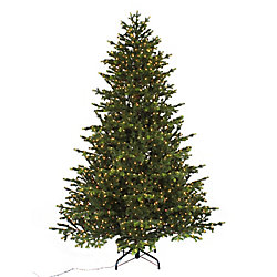 Home Accents Holiday 7.5 ft. 1500 Micro-Dot LED-Lit Norway Spruce LED Christmas Tree with Timer