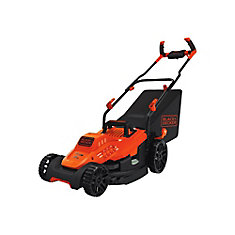 10 amp 15-inch Electric Lawn Mower with Comfort Grip Handle